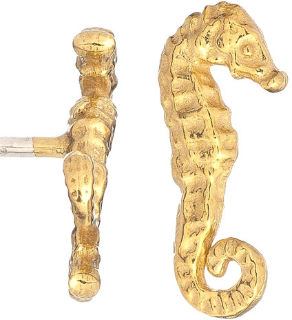 Catherine Weitzman Sea Horse Stud Earrings