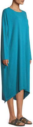 eskandar Smaller Front Larger Back Long-Sleeve Cashmere Dress