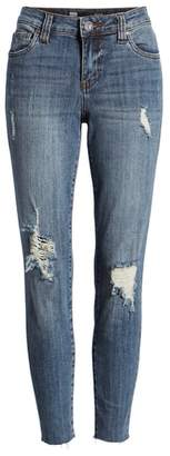 SWAT FAME KUT from the Kloth Connie Raw Hem Ankle Jeans