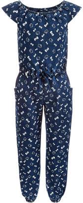 Hello Kitty Toddler Girls Printed Denim Jumpsuit