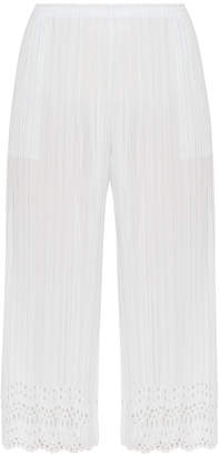 Pleats Please Issey Miyake Cropped Laser Cut Pants