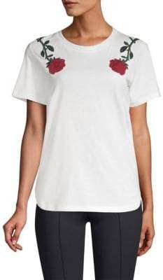 Maje Roses Embroidery Tee