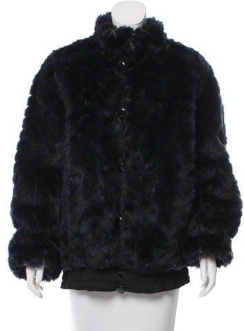 Marc by Marc Jacobs Faux-Fur Short Coat