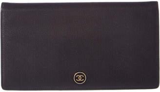 Chanel Black Lambskin Bifold Wallet