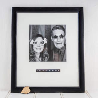 Bespoke & Oak Co. Personalised Black And White Picture Frame