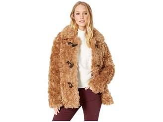 AVEC LES FILLES Faux Fur Toggle Teddy Coat Women's Coat