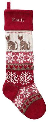 Pottery Barn Kids Kitty Classic Fair Isle Stocking