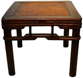 One Kings Lane Vintage Antique Elm Wood Side Table