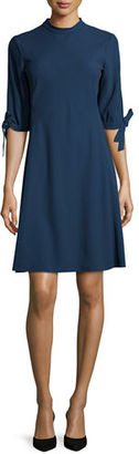 Theory Alvilla Bergen Tie-Sleeve Dress $415 thestylecure.com