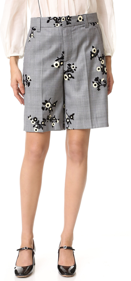 Marc Jacobs Marc Jacobs Floral Flocked Shorts