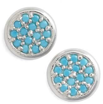 Argentovivo Cubic Zirconia Stud Earrings