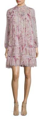 Zimmermann Winsome Silk Lace Inset Shift Dress $1,600 thestylecure.com