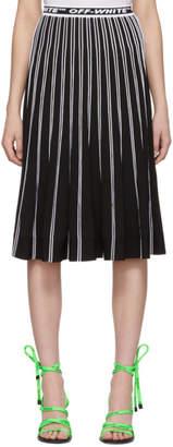 Off-White Black and White Knit Plisse Skirt