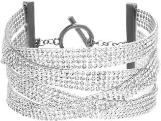 Steve Madden Multistrand Crystal Bracelet