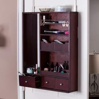 Jenson Over-the-Door Jewelry, Makeup Mirror & Accessory Storage
