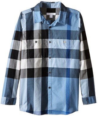 Burberry Kids - Two-Pocket Check Shirt Boy's Long Sleeve Button Up $130 thestylecure.com