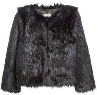 H&M Faux Fur Jacket - Black