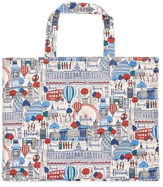 Harrods Pretty City Large Canvas Shopper Bag