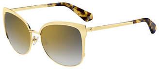 Kate Spade Genice Square Oversize Half-Rim Sunglasses