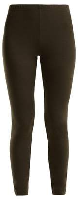 Hanro Hanna Merino Wool Blend Leggings - Womens - Dark Green