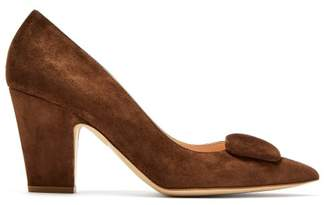 Rupert Sanderson Pierrot Point Toe Suede Pumps - Womens - Dark Tan