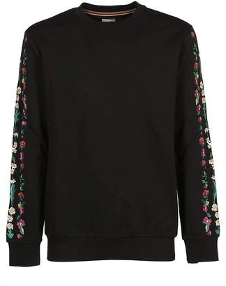 Paul Smith Embroidered Floral Detail Sweatshirt