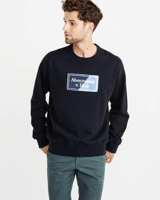 Abercrombie & Fitch Heavyweight Logo Patched Crew Sweatshirt