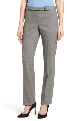 BOSS Tafena Check Wool Suit Pants