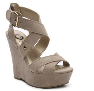 G by GUESS Heethe Wedge Sandal $69 thestylecure.com