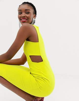 New Look midi dress in neon yellow