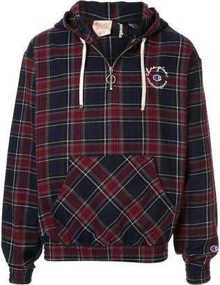 Champion x Clothsurgeon half-zip hoodie