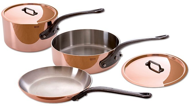 Mauviel M'150c 5-Piece Cast Iron Handle Cookware Set