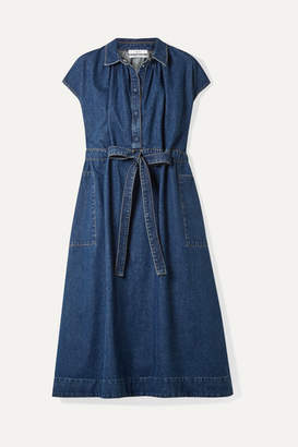 Co Belted Denim Dress - Indigo