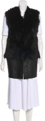 Ramy Brook Fur & Leather Vest