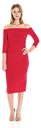 Norma Kamali Women's Off Shoulder Shir Waist Dress