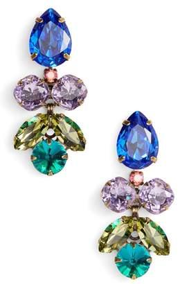 Sorrelli Lotus Flower Crystal Drop Earrings