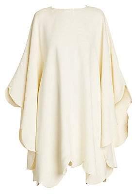 Valentino Women's Oversized Scallop Hem Dress