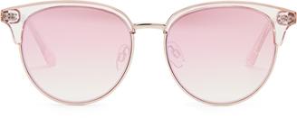 LE SPECS Déjà Vu round-frame sunglasses $67 thestylecure.com