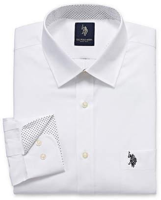 U.S. Polo Assn. USPA Long Sleeve Broadcloth Dress Shirt