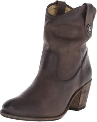 Frye Women's Jackie Button Short Boot, Black