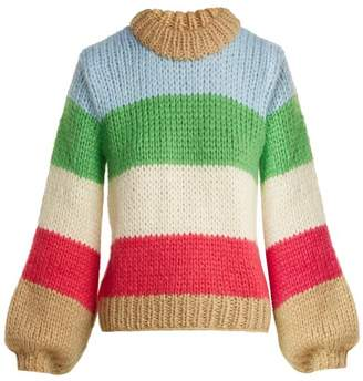 Ganni Julliard Mohair And Wool Blend Sweater - Womens - Multi