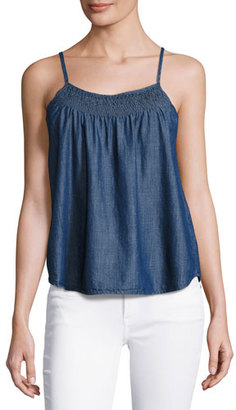 Soft Joie Manisha Chambray Tank Top, Blue $118 thestylecure.com