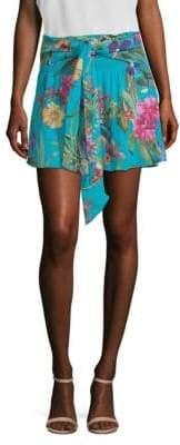 Parker Bridgette Floral-Print Mini Skirt