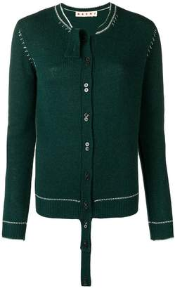 Marni extended placket cardigan