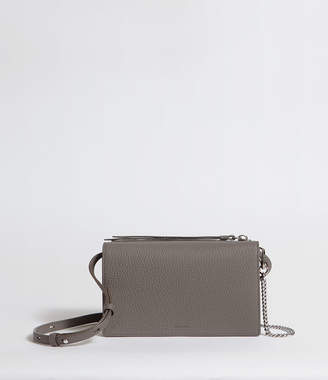 AllSaints Fetch Leather Chain Crossbody Bag