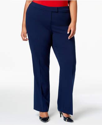 Anne Klein Plus Size Flare-Leg Pants
