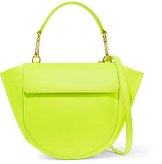 Hortensia Wandler Mini Neon Leather Shoulder Bag - Yellow