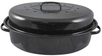 """HDS TRADING CORP 19"""" Non-Stick Carbon Steel Roaster with Lid"""