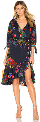 Cynthia Rowley Roseland Printed Wrap Dress