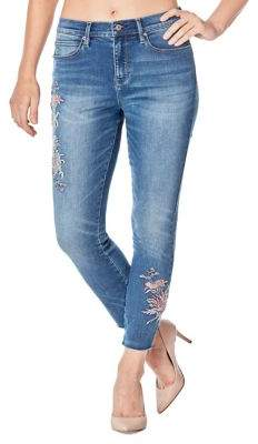 Nicole Miller New York Soho Frayed Cuffs High-Rise Skinny Jeans